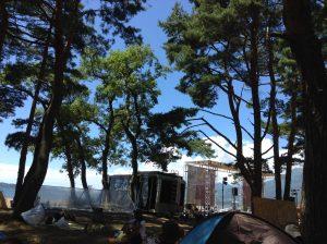 オハラブレイクのキャンプ