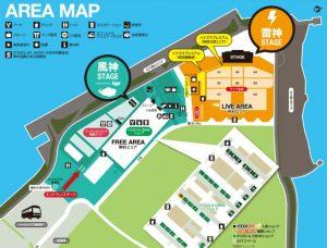 イナズマロックフェス会場までのアクセスや駐車場
