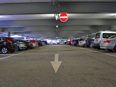 イナズマロックフェスの駐車場