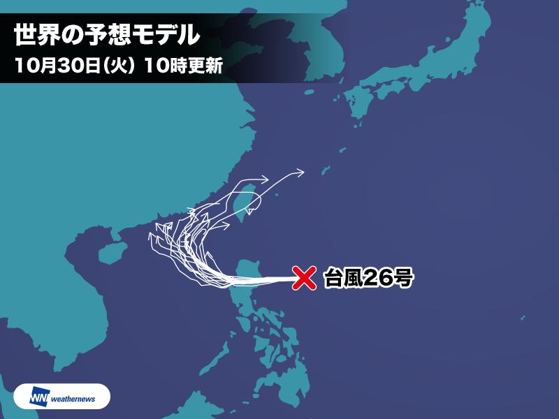台風26号の進路予想